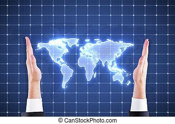 digital világ, térkép