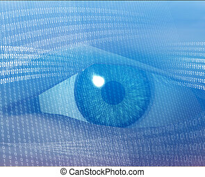 Digital vision - Eye viewing electronic information