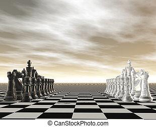 digital visualization of a chessboard