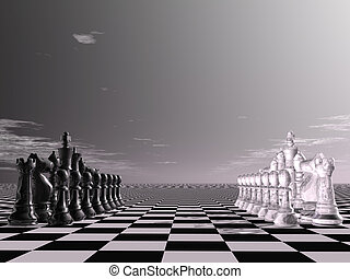 chess - digital visualization of a chessboard