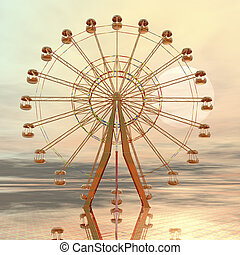giant wheel - digital visualization of a giant wheel