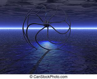 digital visualization of a surrealistic scene