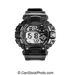 digital watch isolated