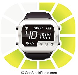 digital watch timer 40 minutes