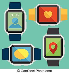 Digital watch vector