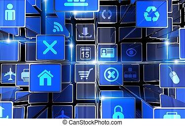 Digital Web Abstract Backdrop