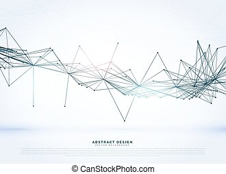 digital wire mesh background in technology connection style