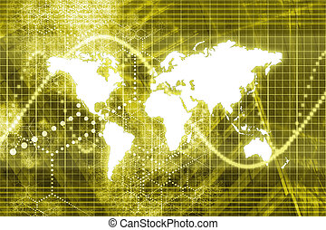 Digital World Business Abstract