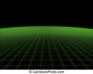 digital world - 3d rendered illustration of a green...