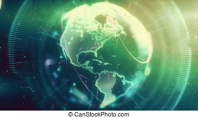Digital World. Computer graphics made. Illustration of a...