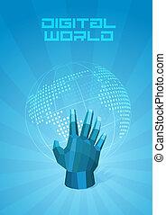 Digital world in hand