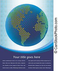 Digital world map.