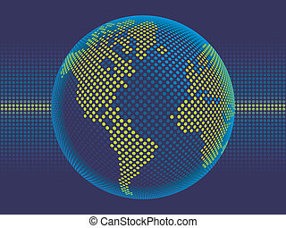 Digital world vector.