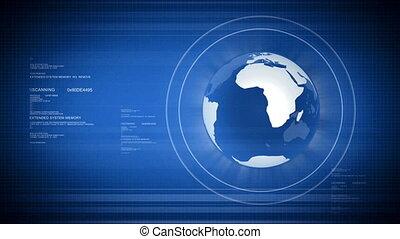 Digital world with Globe