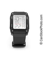 digital wrist watch on white