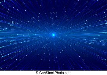 digital zoom bursting lines technology background design