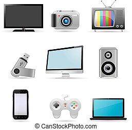 digitale , artikelen & hulpmiddelen, iconen