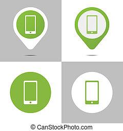 digitale , boek, iconen