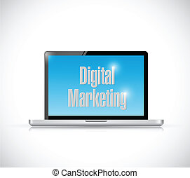 digitale , computer, marketing