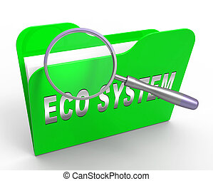 digitale, eco, system, data, vekselvirkning, 3, gengivelse