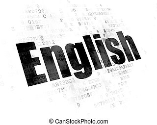 digitale, educazione, concept:, fondo, inglese