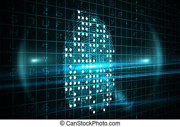 digitale, fingeraftryk