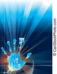 digitale, garanti, berøring