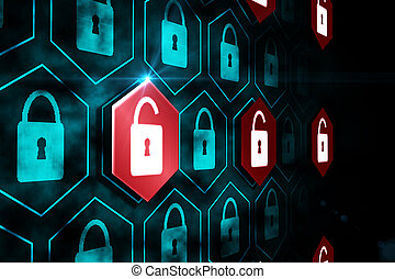 digitale, garanti, lås