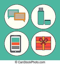 digitale, markedsføring, medier, sociale, kommunikation