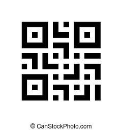 digitale , onderzoeken nauwkeurig, qr, code, etiket