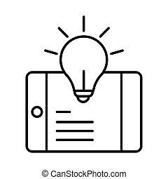digitale , opleiding, smartphone, opleiding, creativiteit, inhoud, website, lijn, stijl, beweeglijk, online, koersen, pictogram