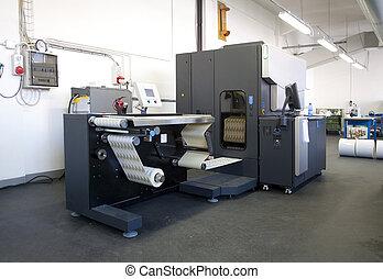 digitale , printer, voor, etiketten