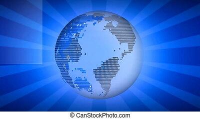 digitale , ronddraaien, globe