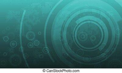digitale, sfondo blu, con, dati
