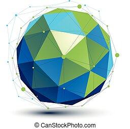 digitale, spaziale, turchese, dimensionale, vettore, oggetto, tecnologia