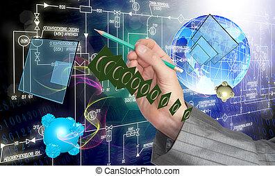 digitale , telecommunicaties, technolo