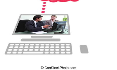 digitalement, affaires gens, vidéos