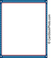 digitalement, border., photo, image, drapeau, américain, engendré, cadre, vide