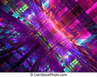 digitalement, coloré, résumé, -, engendré, fond, technologie, image