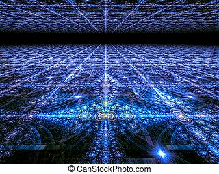 digitalement, dentelle, résumé, ornement, engendré, image