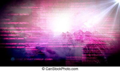 digitalement, interface, engendré, écran visuel
