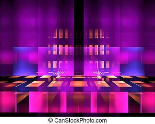 digitalement, pourpre, -, résumé, néon, incandescent, engendré, fond, image