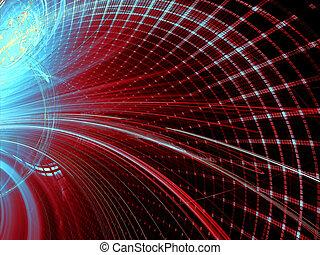 digitalement, résumé, -, engendré, fond, technologie, image