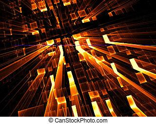 digitalement, résumé, -, engendré, perspective, fond, image