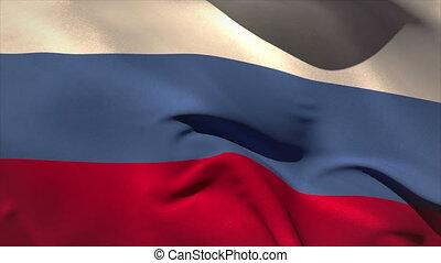 digitalement, russie, engendré, wav, drapeau