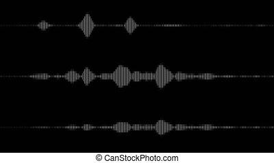 digitalisé, audio, spectre, étalage