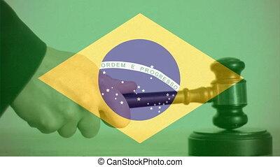 Digitally composite of Brazil flag 4k