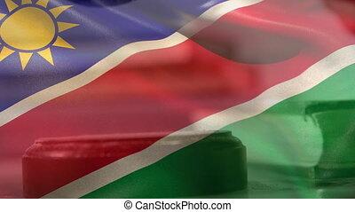 Digitally composite of Namibia flag 4k