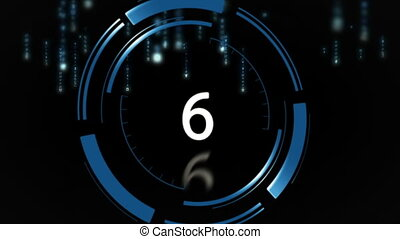 10 to 0 countdown against black background - Digitally...