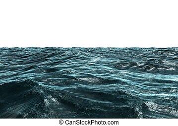 Digitally generated Blue rough ocean